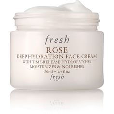 Fresh Rose Deep Hydration Face Cream (€35) ❤ liked on Polyvore featuring beauty products, skincare, face care, face moisturizers, beauty, makeup, fillers, cosmetics and face moisturizer