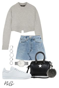 """#720"" by blendingtwostyles ❤ liked on Polyvore featuring TIBI, Givenchy, adidas Originals, CLUSE and Fendi"