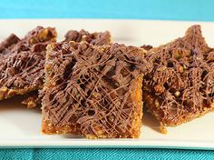 Larimer Toffee Squares (Grahan Crackers, Chopped Pecans, Butter, Light ...