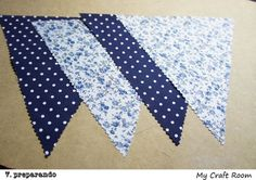 Cómo hacer banderines de tela (técnica 1- zig zag) | my craft room Bunting, Doilies, Applique, Quilts, Blanket, Sewing, Crafts, Campers, Babe