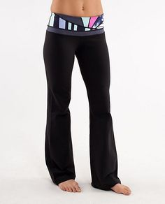 Lululemon Groove Pant.  Most comfortable and flattering yoga pant!  Live in mine!