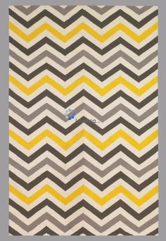 Yellow Chevron Area Rug By Ambesonne Ikat Style Abstract Sketchy Looking Faded Zigzag Motif Tile Flat Woven Accent For Living Room Bedroom Di