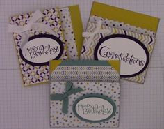 Flap Fold Money/Gift Card Holder using Stampin' Up Designer Series paper