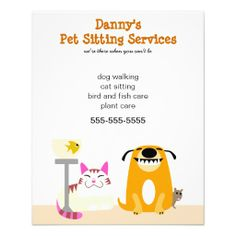 pet sitters promotional flyer