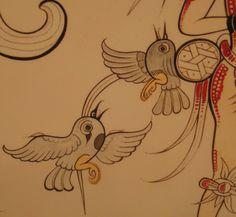Los murales mayas de San Bartolo (Guatemala) Mesoamerican, Mexican Folk Art, Mural Art, Ancient Art, Deities, Archaeology, Aztec, Temple, Birds