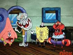What's wrong with THIS photo? Maybe tha Krusty Krab crew looks weird faces? Funny Spongebob Faces, Memes Spongebob, Spongebob Squarepants, Spongebob Tumblr, Pineapple Under The Sea, Funny Memes, Hilarious, Wtf Face, My Childhood