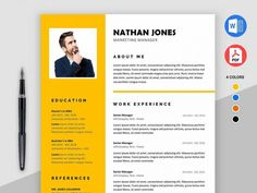 Assure is free modern resume template for MS Word for great impression. This resume template has outstanding design with a well-organized object with Business Resume Template, Microsoft Word Resume Template, Nursing Resume Template, Modern Resume Template, Resume Design Template, Cv Template, Design Resume, Free Printable Resume Templates, Templates Free