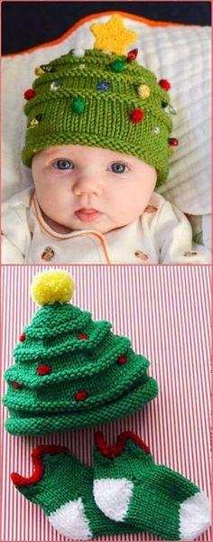 Knit Christmas Tree Hat Free Pattern - Crochet Christmas Hat Gifts Free Patterns