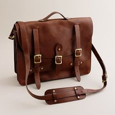 montague leather satchel from jcrew men's