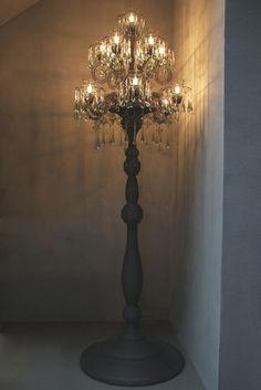 Crowl Xl Floor Standing Chandelier Lamp Bespoke Furniture Luxury Shabby
