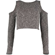 Boohoo Carla Cut Out Shoulder Fine Rib Knit Jumper ($10) ❤ liked on Polyvore featuring tops, sweaters, white tops, cut out shoulder sweater, knit jumper, cutout shoulder sweater and cutout shoulder top