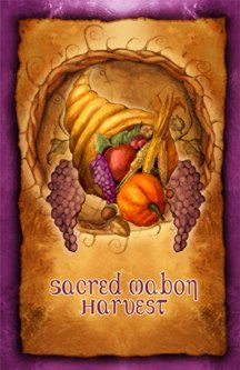 Mabon, a Pagan celebration of the Autumnal Equinox, falls in between the first and third harvests of Lughnasad and Samhain (respectively). Mabon marks the halfway point between Litha (Midsummer) and Yule (Midwinter) when our earth is aligned with the sun.  This is the second time of the year that the days and nights are equal in light and dark (the other is at the opposite of the Wheel of the Year, on Ostara, or Spring Equinox). After Mabon, the nights grow longer.