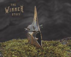 Nazgul Helmet - Paracord Knife Lanyard Bead in Bronze by TheWinnerStuff on Etsy