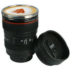 SLR Camera Lens Stainless Steel Travel Coffee Mug with Leak-Proof Lid $10.00 Our Price