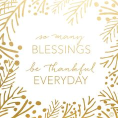 So many blessings, be thankful everyday - free 5x7 printable by creative index