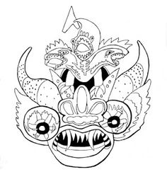 Mascara para pintar Origami Tattoo, Posca, Native Art, Mask Making, Tatoos, Coloring Pages, Doodles, Projects To Try, Image