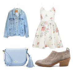 """""""Untitled #149"""" by iloveboybands5sosvamps ❤ liked on Polyvore featuring rag & bone, Kate Spade, New Look and Levi's"""