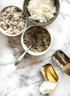 Wild Greens and Sardines : Shiso Furikake