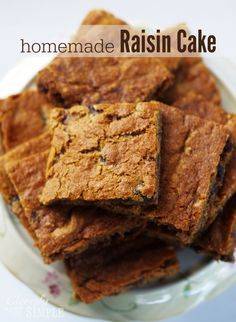 This Homemade Raisin Cake Recipe is absolutely delicious!