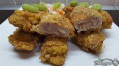 Sajttal töltött sertéskaraj Bacon, Pork, Chicken, Meat, Kale Stir Fry, Pork Chops, Pork Belly, Cubs
