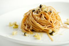 Wholemeal spaghetti with white asparagus and caper by Chef Tiziano Muccitelli on 500px