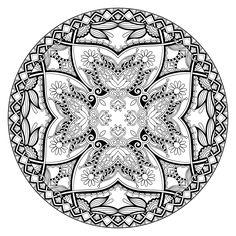 Mandala 745, Free coloring-adult-mandala-by-karakotsya-2.