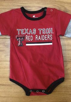 Colosseum Texas Tech Red Raiders Baby Red Button Lift Long Sleeve One Piece - 15039886 Raiders Gifts, Raiders T Shirt, Raiders Baby, Texas Tech Red Raiders, Tech T Shirts, Red Button, Little Red, One Piece, Long Sleeve