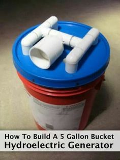 5 gallon hydroelectric generator