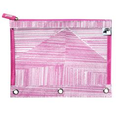 Yoobi x Usher Binder Zip Case - Pink Lines