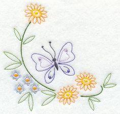 Borboleta e flor de canto (Vintage)