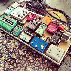 Justin Vernon's (Bon Iver) pedalboard