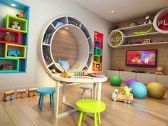 Kinderspielzimmer - Mollie and Lola - Dekoration Daycare Design, Playroom Design, Kids Room Design, Room Kids, Design Bedroom, Kids Bedroom Furniture, Furniture Design, Bedroom Ideas, Kindergarten Design