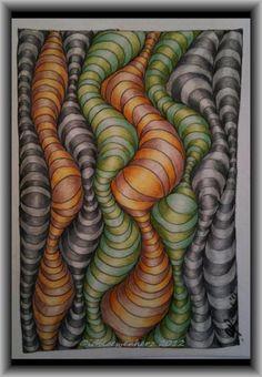 Op + Art + Linien muster doodle kritzelei