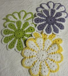 Crochet Pot Holder/Hot Pad 100 Cotton Double by Kitkateden on Etsy, $12.00