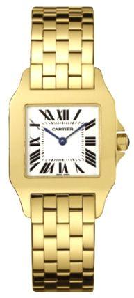 Cartier Santos Demoiselle 18kt Yellow Gold Ladies Watch W25062X9  $17,167.50  #CartierSantos