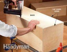 DIY box shelf