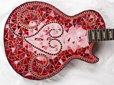 HEART BEAT Mosaic Guitar by racman on Etsy