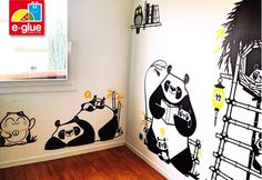 panda pack of kids wall decals for Lydia's room - would be so cute!