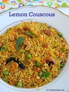Lemon couscous recipe Indian style is a simple, light breakfast and they are easy to cook. It goes well with chutney / pickle. Perfect to have for lunchbox.