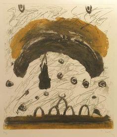 "Jafar Kaki ""S/T"", 1993. Aguafuerte, aguatinta, azúcar y punta seca. sobre Zinc de 38,5x34 cm., Papel Michel de 250 gr de medidas 65,5x50 cm. Ej.: 60 #art #etching"