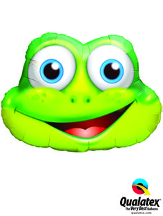 This Funny Frog face is a Microfoil balloon! #qualatex #balloon #frog