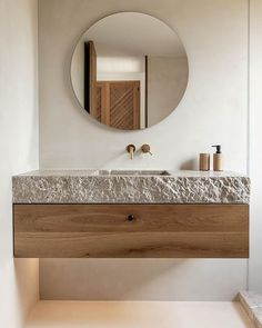 Beautiful Bathrooms, Modern Bathroom, Earthy Bathroom, Natural Bathroom, Bathroom Styling, Bathroom Interior Design, Spanish Style Bathrooms, Inside Design, Bathroom Furniture
