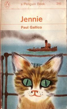 The unforgettable adventures of a small boy who, after an accident is changed into a stray cat and is befriended by the indomitable Jennie (herself a feline), who initiates him into the lore of London's streets. ~ Jennie ~ Paul Gallico ~ 1950 (Cover art by David Gentleman ~ Penguin, 1963)