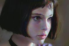 digital painting matilda portrait