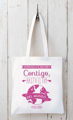 bolsas de teles personalizadas / regalos de boda www.lafabricademariana.com
