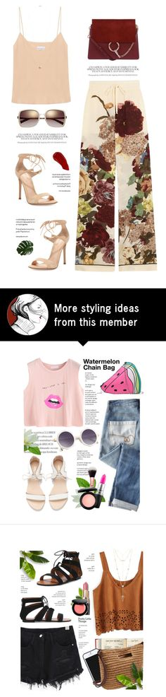 """..."" by yexyka on Polyvore featuring Valentino, Chloé, Raey, Ellis Faas, Gianvito Rossi and Dorothy Perkins"