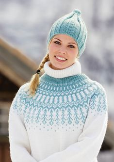 dk garn og opskrift finder du i min shop Knitting Patterns Free, Knit Patterns, Clothing Patterns, Free Pattern, Fair Isle Knitting, Hand Knitting, Drops Cotton Light, Drops Baby, Norwegian Knitting