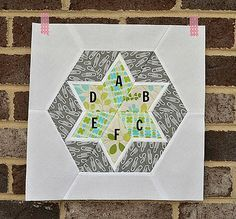 hexagon star block 2 by sewcraftyjess, via Flickr