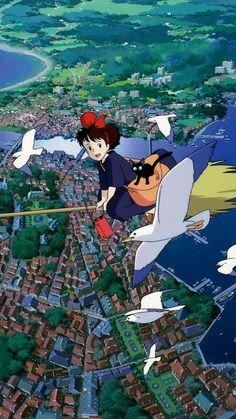 Art of animation wallpaper Disney World Map, Art Disney, Kiki Delivery, Kiki's Delivery Service, Studio Ghibli Art, Studio Ghibli Movies, Cartoon Wallpaper, Wallpaper Art, Animes Wallpapers