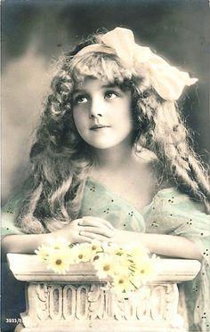 Vintage Postcard Tinted photograph
